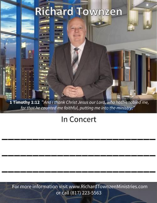 Richard Townzen Ministries Poster 8.5x11